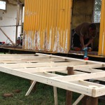 Die Veranda im Bau