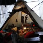 Das Zelt im Studio