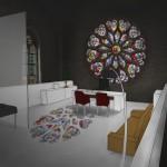 Konzept Kathedrale : Büro coloriert